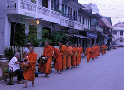 Luxury Indochina Tours - Monks in Laos