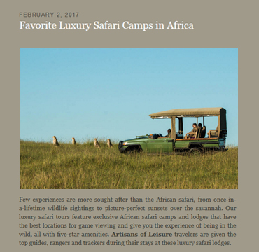 private Africa tours