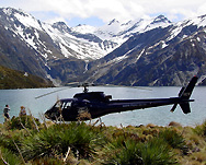 Helicopter touring in New Zealand